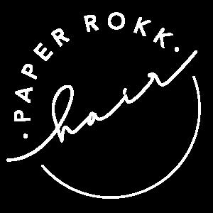paperrokk hair gold coast hairdresser logo white