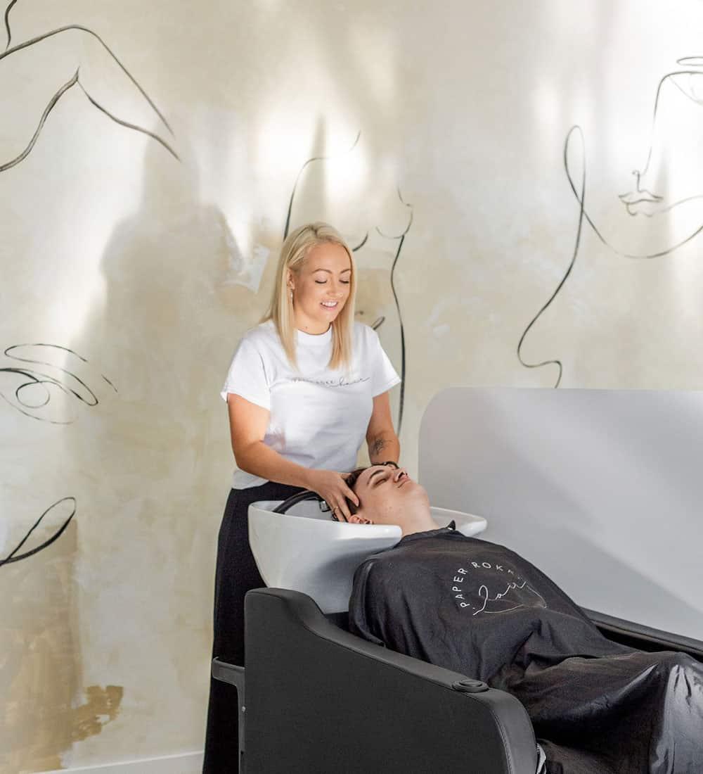 paper rokk hair salon basin